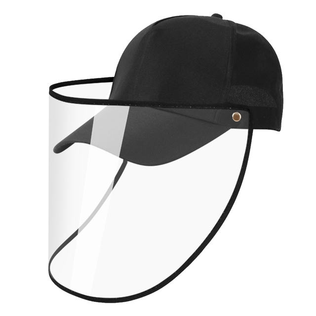 Transparent Anti Spitting PVC Protective Hat Face Shield Travel Easy Clean Eye Protection Outdoor Baseball Cap Saliva Isolation 1