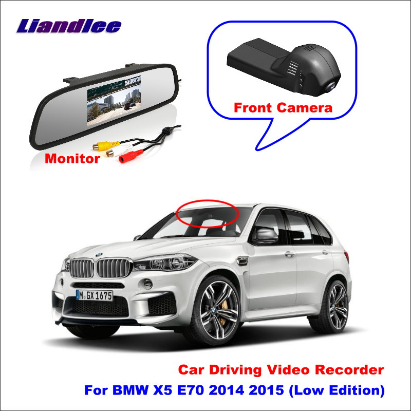 Liandlee For BMW X5 E70 2014 2015 (Low Edition) Car DVR Wifi Video Recorder Dash Cam Camera Night Vision Control Phone APP 1080P image
