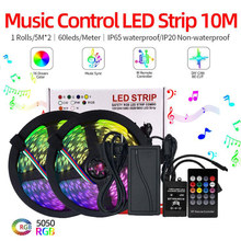 10M LED Lights With Waterproof Neon Tape Smart Music Voice Control Lights With RGB Flexible Ribbon LED Backlight TV Backlight(China)