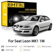 BMTxms Canbus para Seat Leon MK1 1M 1M1 1999-2006 coche LED Exterior Interior bombilla de señal de giro de estacionamiento inversa luz de placa de licencia