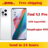 OPPO-teléfono inteligente Find X3 Pro 5G, Original, oficial, 6,7 pulgadas, AMOLED, Snapdragon 888, 65W, SuperVOOC, 30W, Air VOOC, NFC, cámara de 50.0MP