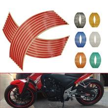 Motorrad Rad Aufkleber 3D Reflektierende Rim Band Auto Aufkleber Streifen Für KTM RC 200 390 125 Duke 125 690 Duke 990 abenteuer SMR