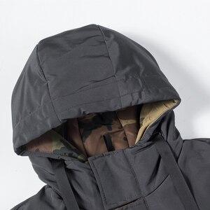 Image 4 - Oumor 8XL 男性冬新長期カジュアル迷彩フード付きジャケットパーカー男性屋外ファッション暖かい厚手陸軍コートパーカー男性