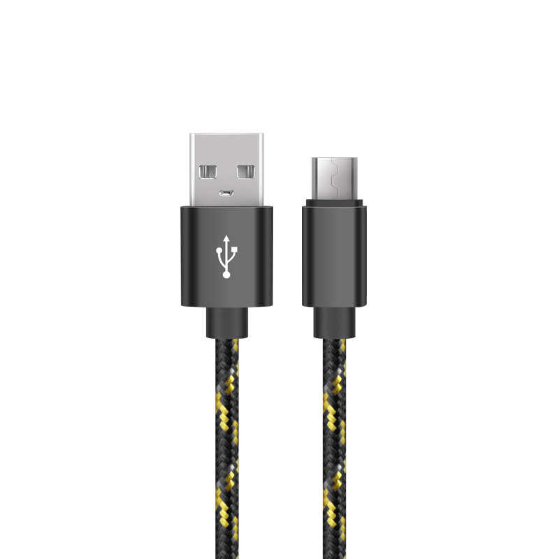 Applicable To Android V8 Nylon Woven Aluminum Alloy 2A Mobile Phone Charging Cable Data Cable Cord Wire Fast Quick Charge
