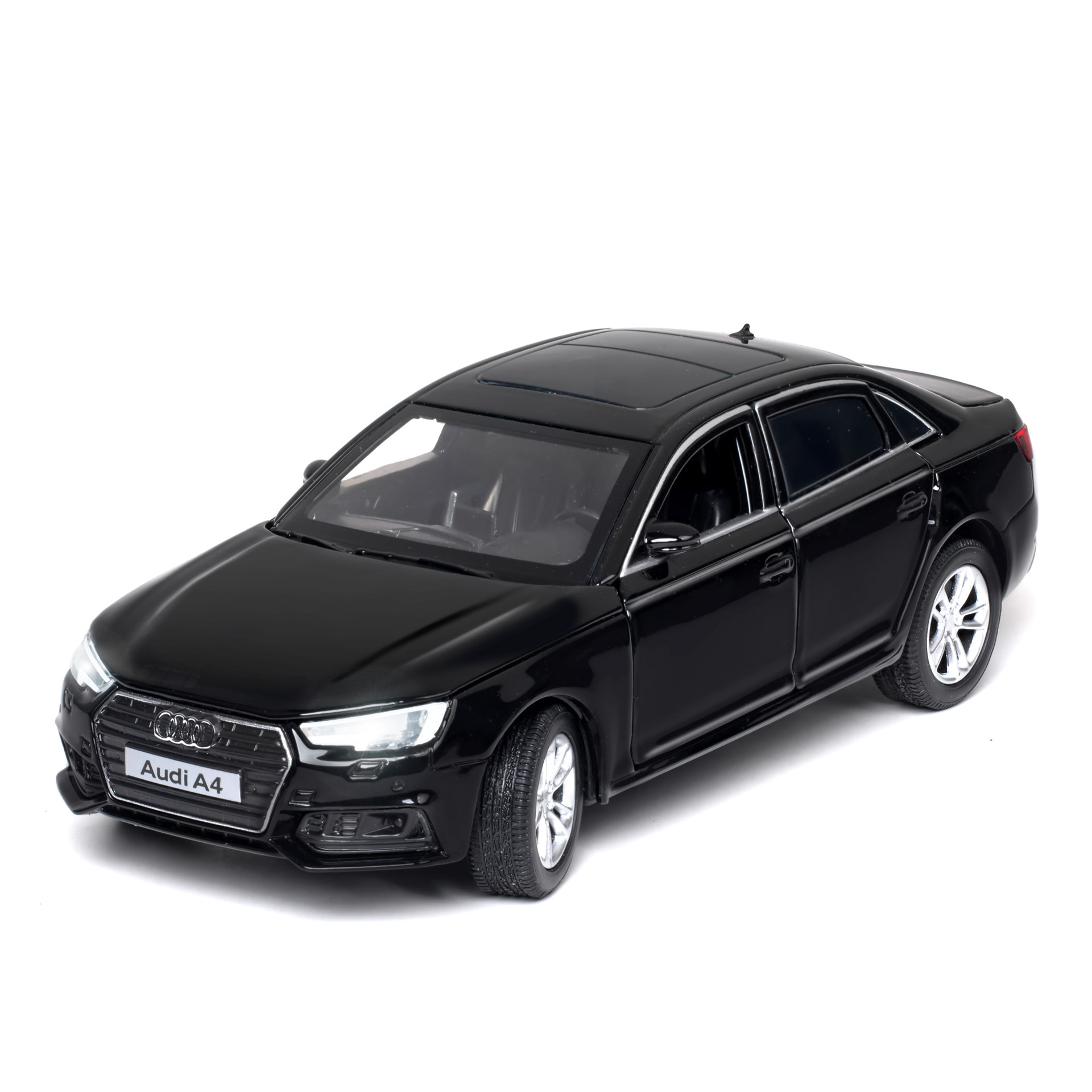 KIDAMI 1:32 AUDI A4 Alloy Car Model Metal Diecast Toys For Kids Collection/Diecast Vehicles Pull-back Vehicle Boy Toy Car Gift image