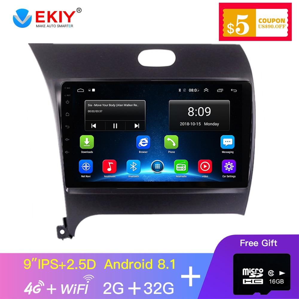 EKIY 9'' 2.5D IPS Car Radio Multimedia Player Android 8.0 For Kia CERATO K3 FORTE 2010-2017 Head Unit Gps Navigation
