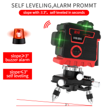 12 Lines 3D Green Laser Level Self-Leveling 360 Degre Horizontal And Vertical Cross Lines Green Laser Line With Tripod 2 Battery