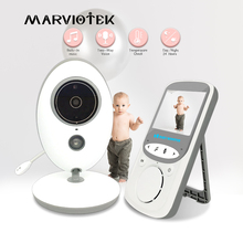 Baby Monitor Wireless LCD Audio Video Radio tata musica citofono IR 24h videocamera portatile Baby Walkie Talkie bambinetta VB605