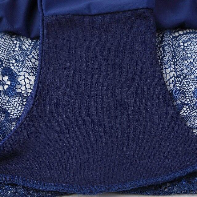 3pcs/lot  Sexy Women Panties set Lace Briefs Ice Silk Seamless Underwear Thong Lingerie Transparent Underpants String Pants #D 6