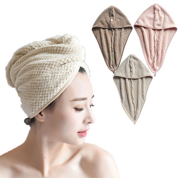 Hair Drying Towels Women Towels Bathroom Towel Bath Hat Quick-drying Super Absorbent Thicker Microfiber Hair Dry Cap double layer colorful shower cap wrapped towels microfiber bathroom hats solid superfine quickly dry hair hat bath accessories