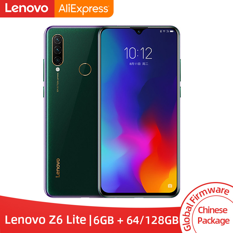 Global ROM Lenovo Z6 Lite 6GB 64GB 128GB Snapdragon 710 Octa Core Smartphone Triple Back Cams 6.3'' 19.5:9 WaterDrop 4050mAh