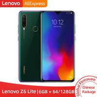 Globalny rom Lenovo Z6 Lite 6GB 64GB 128GB Snapdragon 710 smartfon z procesorem ośmiordzeniowym octa core potrójne tylne kamery 6.3 ''19.5: 9 WaterDrop 4050mAh