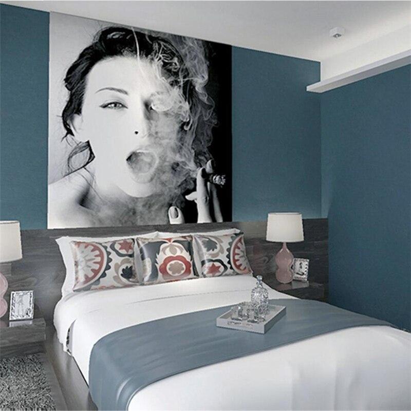 €27.07 38% de réduction|Wellyu encre bleu papier peint style nordique gris  foncé bleu chambre salon couleur pure moderne minimaliste fond papier ...