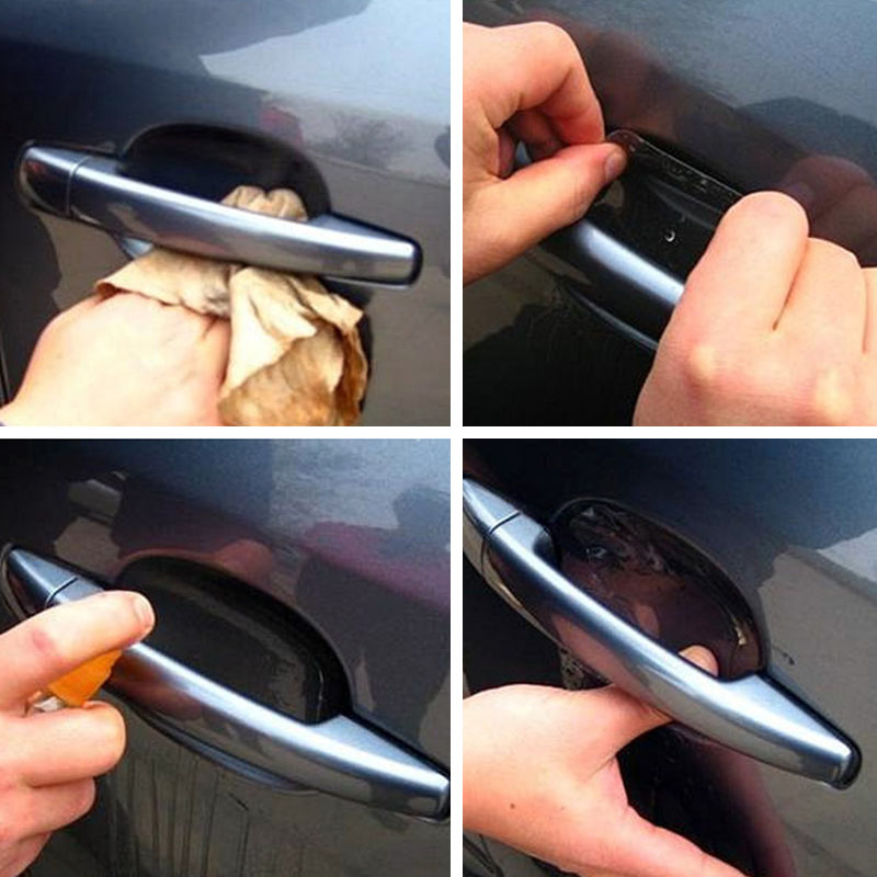 Image 3 - 4 Pcs Car Door Handle Invisible Transparent Anti scratch Protection Protector Sticker VS998