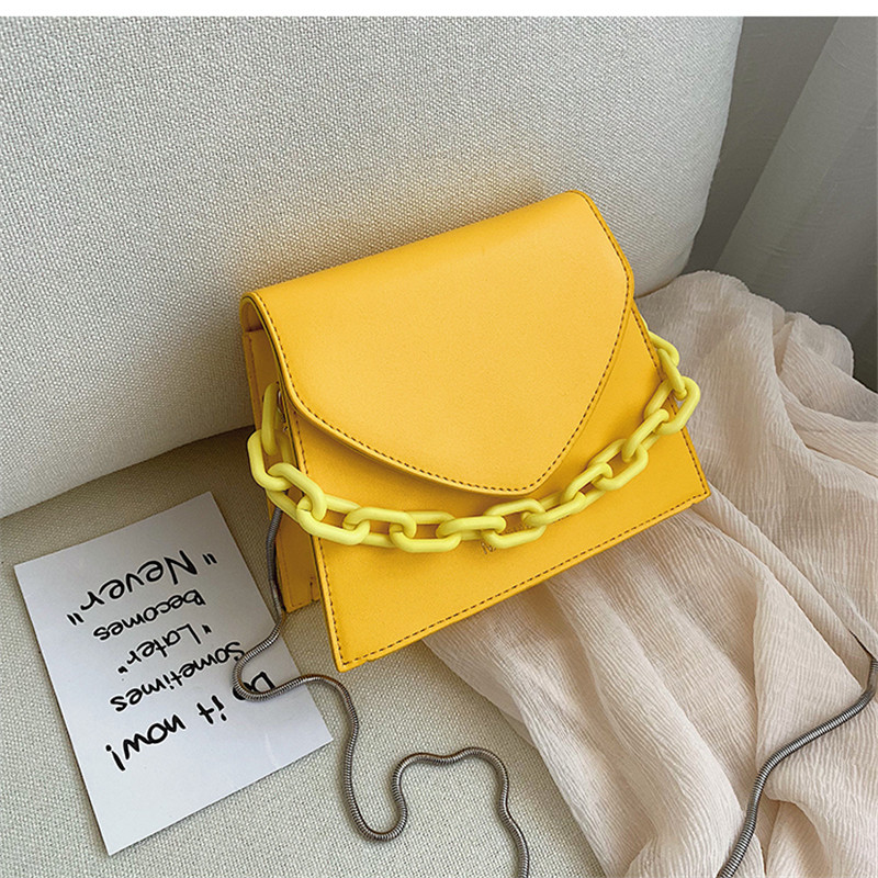 Solid Mini PU Leather Crossbody Bags For Women 2020 Small Square Bag Shoulder Messenger Bag Lady Purses And Handbags Bolso Mujer