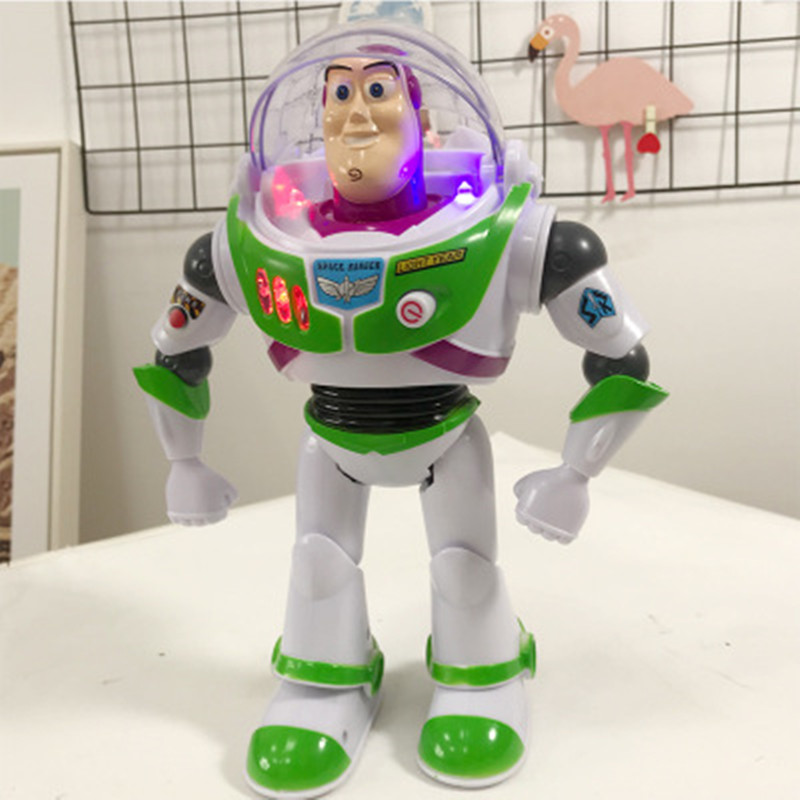 Hot Sale Popular Anime Toy Story 4 Electronic Sound Action Buzz Plastic Doll Wings Lightyear PVC Figure For Kids Birthday Gifts