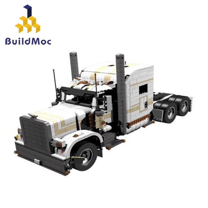 BuildMoc  6138 Technic Engineering Dump Truck Building Blocks Vehicle Car Bricks Set Educational DIY Toys For Children Boys