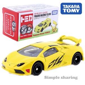 Figuras de pokemon dos sonhos takara tomy, kit de brinquedos colecionáveis de miniatura do carro do pikachu para crianças
