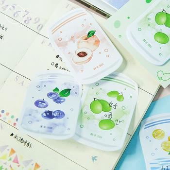 1 opakowanie słodkie owoce napoje gazowane napoje notatnik kartki samoprzylepne papier w kategorii notesy szkolne materiały papiernicze szkolne materiały biurowe dla dzieci prezent tanie i dobre opinie treein art Dekoracji Podkładki memo K1-11