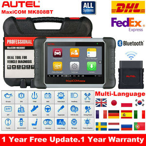 Image 1 - 2020 Original Autel MK808BT OBD2 Scanne Car Diagnostic Tool  Functions of EPB/IMMO/DPF/SAS/TMPS Better Than Launch x431