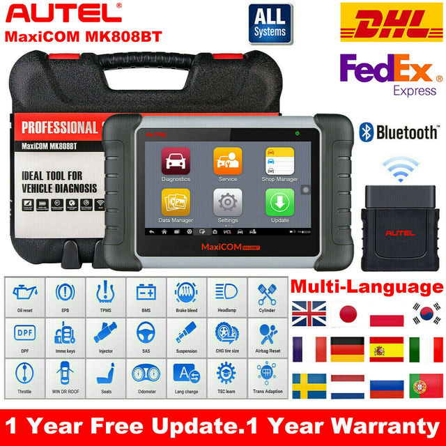 2020 Original Autel MK808BT OBD2 Scanne Car Diagnostic Tool  Functions of EPB/IMMO/DPF/SAS/TMPS Better Than Launch x431
