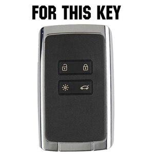 Image 2 - Apktnka 4 Button Carbon Fiber Car Remote Control Key Shell Cover Case Fob For Renault Kadjar Megane Clio 2016 2017 2020 2021