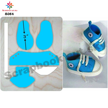 Baby shoes die  muyu cutting die   new wooden mould cutting dies for scrapbooking S064