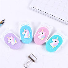 Cute Flip Unicorn Correction Tape Cartoon Creative Kawaii Children School Supplies Materials Korean Stationery Students