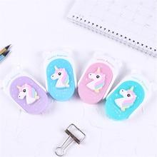 купить Cute Flip Unicorn Correction Tape Cartoon Creative Kawaii Unicorn Children School Supplies Materials Korean Stationery Students дешево