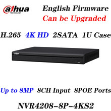 Original Dahua Express Shipping NVR4216-16P-4kS2 NVR4232-16P-4kS2 16CH 32CH 8MP 1U 16PoE 4K and H.265 Lite network video recorde(China)