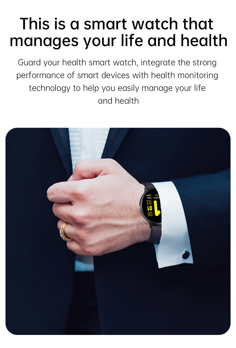 H073f88a37d3949aba8171c15a19c10b6n 2021 Bluetooth Call watch Smart watch For men And women Full touch fitness tracker Blood pressure Smart clock ladies Smart watch
