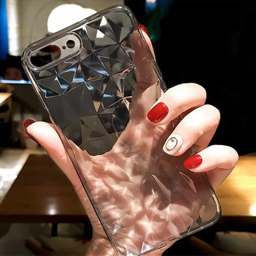 Mode Diamant Textuur Cases Voor iPhone X XR Xs Max Case iPhone 6 6s 7 8 Plus Cover Transparant zachte Siliconen TPU Telefoon Gevallen