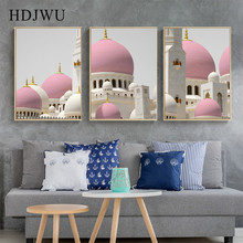 Simple Nordic Canvas Painting Wall Picture Building Home Printing Posters Pictures for Living Room  AJ00375
