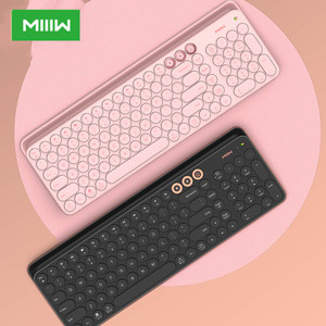 Original Miiiw Bluetooth Dual Mode Keyboard 104 Keys 2.4GHz Multi Compatible Wireless Portable for macbook Keyboard Pink(China)