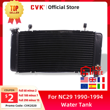 цена на CVK Motorcycle Radiator Cooler Cooling Water Tank for HONDA CBR400 CBR400RR NC29 CBR29 CBR 400 RR MC29 1990 1991 1992 1993 1994