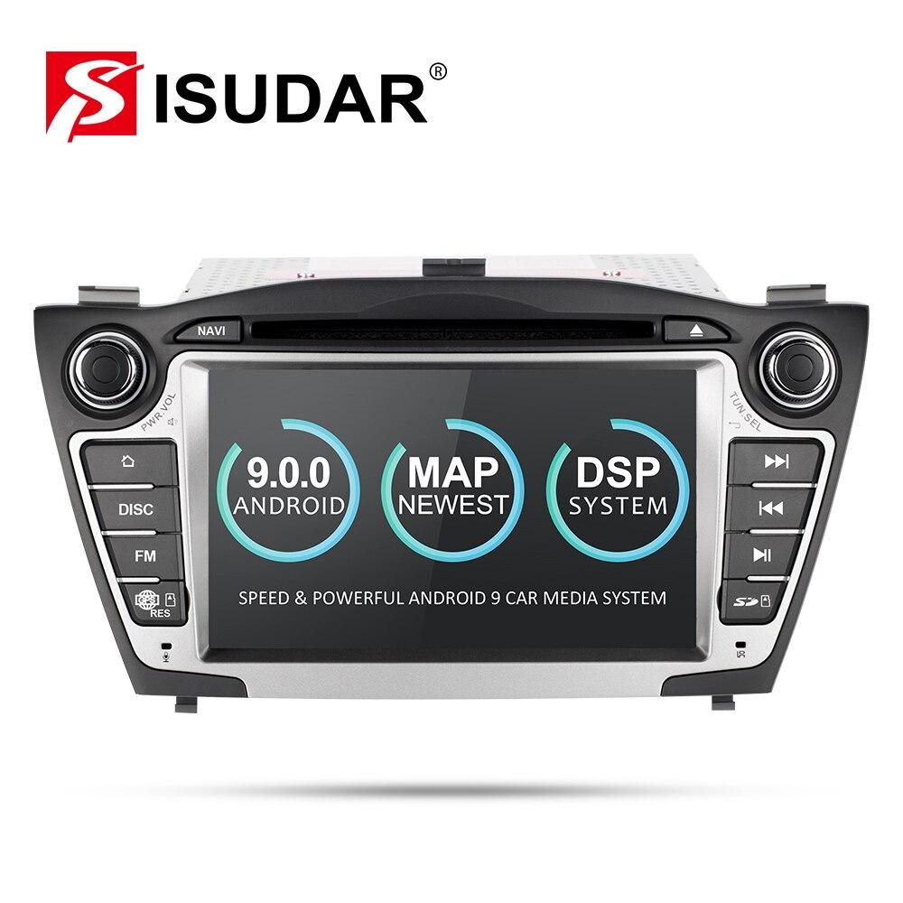 Lecteur multimédia de voiture Isudar GPS 2 Din Android 9 pour Hyundai/IX35/TUCSON 2009-2015 Radio automatique Canbus lecteur DVD DVR USB DSP FM