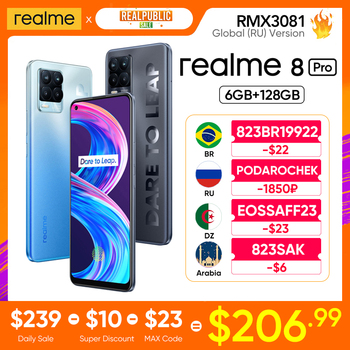 realme 8 Pro Global Version 6GB 128GB 108MP Camera 50W SuperDart Charge Super AMOLED NFC Play Store 1