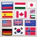 Страна Национальный флаг вышивка патчи для одежды прямоугольник круглая нашивка с помощью утюга наклейки вышитые значки на рюкзак с апплик...