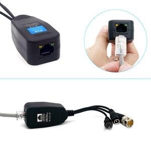 8MP HD BNC видео Мощность Балун аудио к RJ45 разъем HD-CVI/TVI/AHD приемопередатчик для системы видеонаблюдения