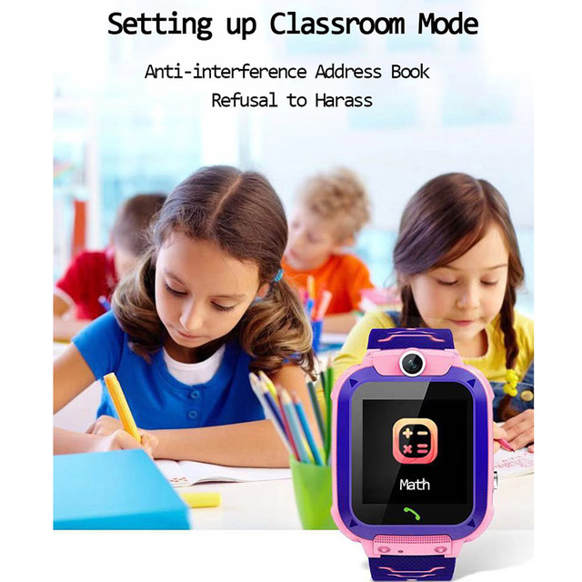 Q12 Children's Smart Watch SOS Phone Watch Smartwatch For Kids With Sim Card Photo Waterproof IP67 Kids Gift For IOS Android 4