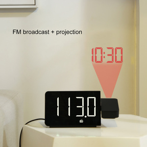 Image 3 - FanJu LED Digital Alarm Clock Watch Table Electronic Desktop Clocks USB Wake up FM Radio Time Projector Snooze Function 2 Alarm