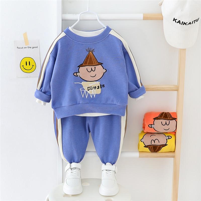 HYLKIDHUOSE 2020 Spring Baby Girls Boys Clothing Sets Cartoon T Shirt Pants Children Casual Sportswear Toddler Infant Clothing