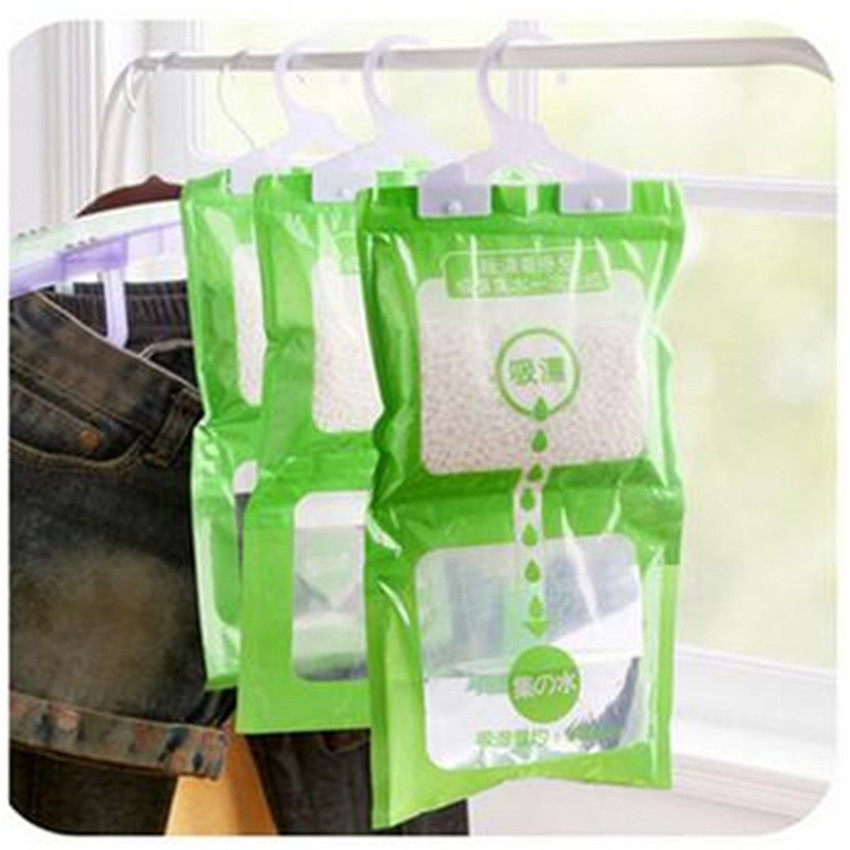 New Hanging Drying Clothes Moisture Mold Desiccant Dehumidification Home Wardrobe Moisture Absorption Dehumidifier Dry Bag