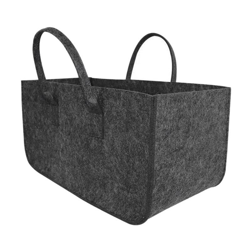 Felt Storage Bag Large Capacity Casual Shopping Bag,Fruit And Vegetable Basket Toy Storage Basket Clothing Storage Basket