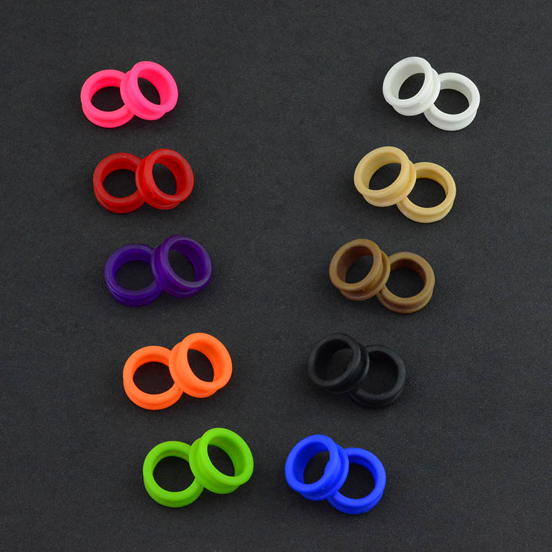 Salon Soft Silica Gel Hair Scissors Silicone Finger Rings Scissors Inserts Groomer Accessories Handle Rings For Barber Shears