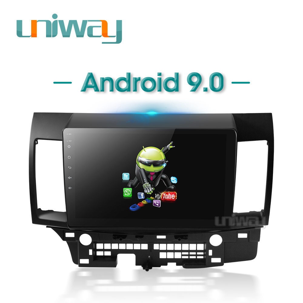 Uniway PX30 DSP YS301 car dvd for Mitsubishi Lancer 10.1 inch 2008 2009 2010 2011 2012 2013 2014 2015 car stereo navigatorCar Multimedia Player   -