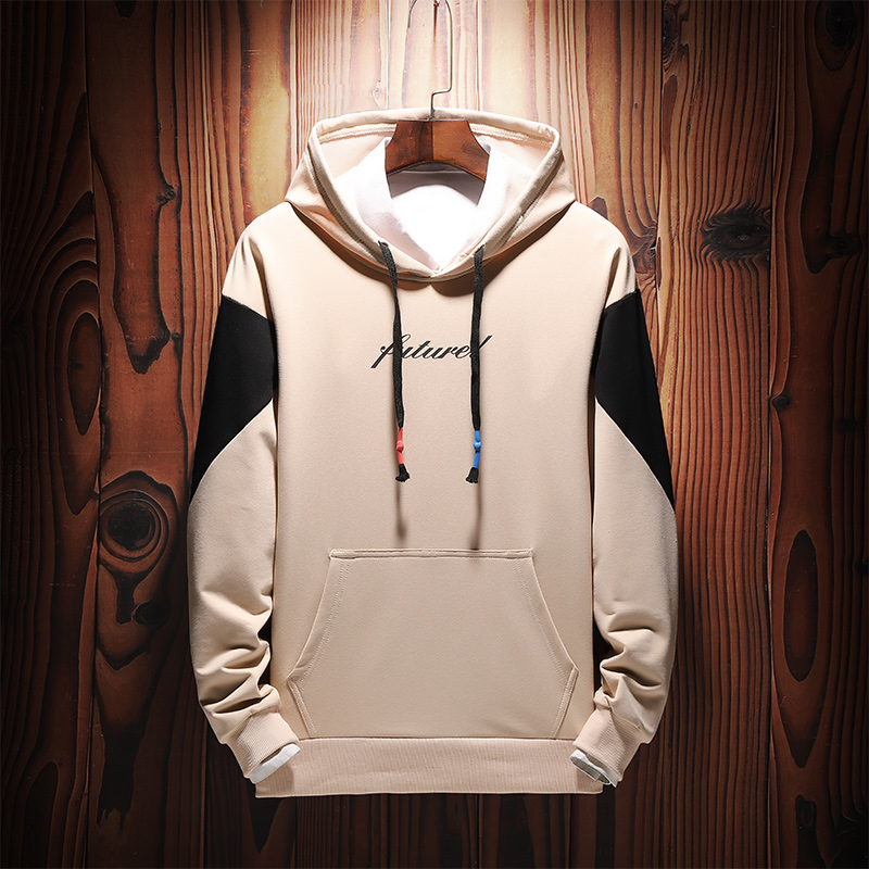 Men Sweatshirts Street Fashion 2019 New Spring And Autumn Patchwork Male Hoodies Teenager Boy Coat Letter Korean Style H16 1