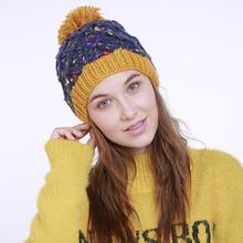 Новое поступление сезон осень зима женские вязаные шапки ручной