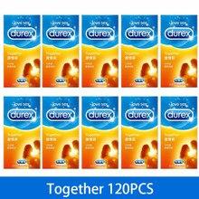 Preservativos durex 12/120 pçs juntos preservativo ultra fino para homem íntimo confortável ajuste próximo látex natural extra lubrificado