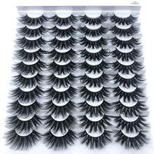 2/5/10/ 20 pares 3d vison cabelo cílios postiços 10-25mm cílios grossos longos wispy macio artesanal crueldade-livre vison cílios maquiagem